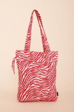 Drawstring Tote Zebra